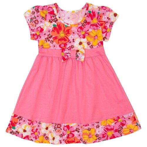Платье ALENA размер 98-104, розовый/желтый
