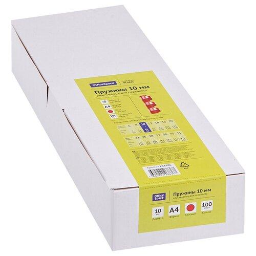 Фото - Пружина OfficeSpace пластиковые 10 мм красный 100 шт. пружина officespace пластиковые 6 мм красный 100 шт