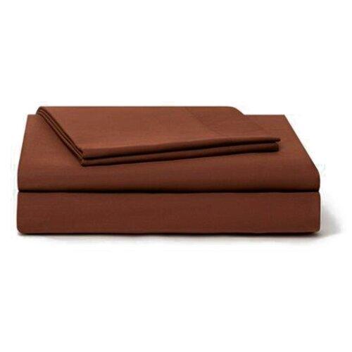цена Постельное белье семейное Sparkis Chocolate, сатин коричневый онлайн в 2017 году
