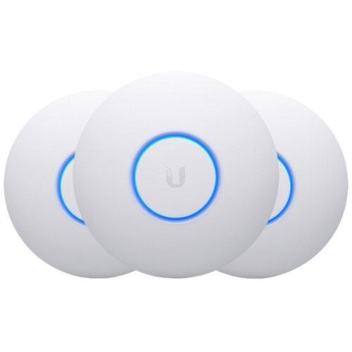 Фото - Wi-Fi точка доступа Ubiquiti UniFi nanoHD 3-pack, белый wi fi точка доступа ubiquiti unifi ac lite белый