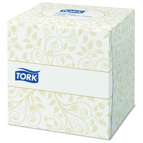 Салфетки TORK косметические ультрамягкие в форме куба 140278, 100 шт.