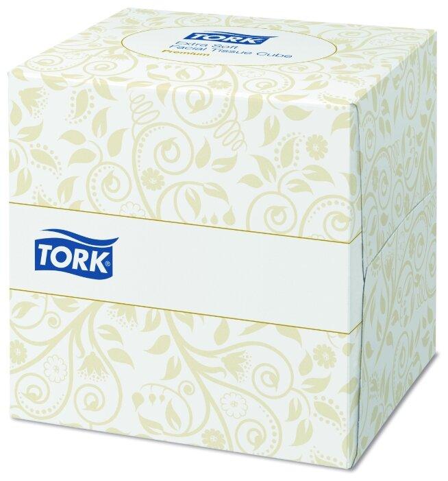 Салфетки TORK косметические ультрамягкие в форме куба 140278