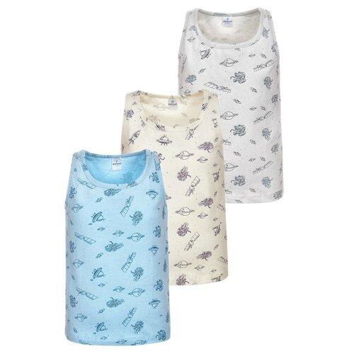 Купить Майка BAYKAR 3 шт., размер 146/152, белый/бежевый/голубой, Белье и пляжная мода