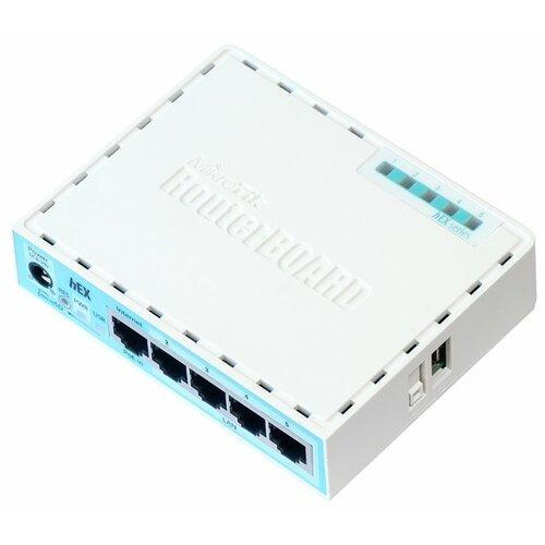 Маршрутизатор MikroTik hEX RB750Gr3 маршрутизатор mikrotik ccr1036 8g 2s 8x10 100 1000mbps 2xsfp 1xmicrousb