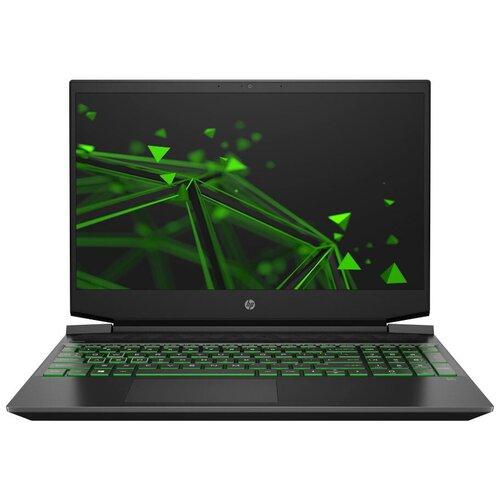 Ноутбук HP Pavilion 15-ec1072ur (22N85EA), темно-серый/зеленый хромированный логотип