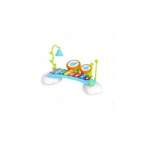 Музыкальный центр для малышей: ксилофон, барабаны, колокольчик, арт. Y61171