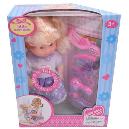 Купить Игровой набор Маленькая мама , звук, в комплекте кукла 26см, предм. 5шт, эл.пит. AG13х3шт. вх. в компл. Shantoy Gepay HE867AB, Наша игрушка, Куклы и пупсы