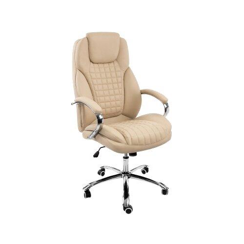 Фото - Компьютерное кресло Woodville Herd офисное, обивка: искусственная кожа, цвет: темно-бежевый компьютерное кресло woodville rich офисное обивка искусственная кожа цвет коричневый