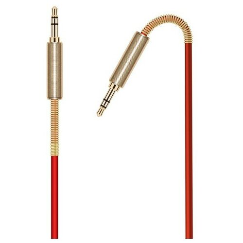 Krutoff / Аудио кабель AUX Krutoff Spring, красный 1m (пакет)