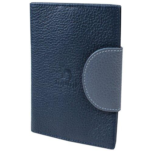 Обложка для паспорта Mumi джинс 160-28, натуральная кожа