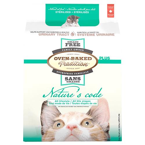 Сухой корм для стерилизованных кошек всех возрастов Oven-Baked Tradition Nature\'s Code беззерновой, со свежим мясом курицы 4.54 кг