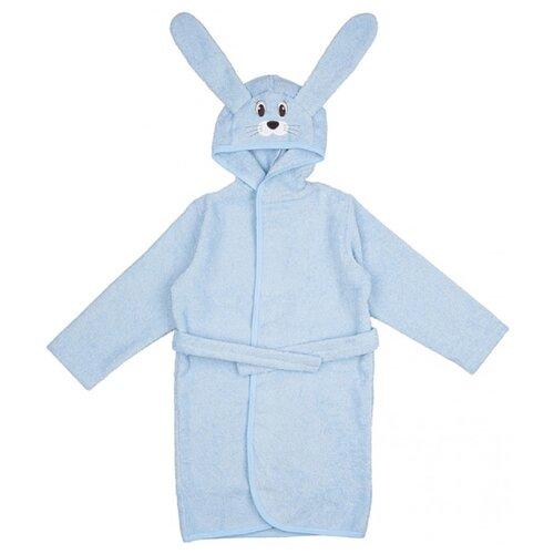 Купить Халат LEO размер 80-86, голубой, Домашняя одежда