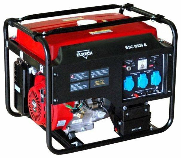 Бензиновый генератор ELITECH БЭС 6500 Д (5000 Вт)