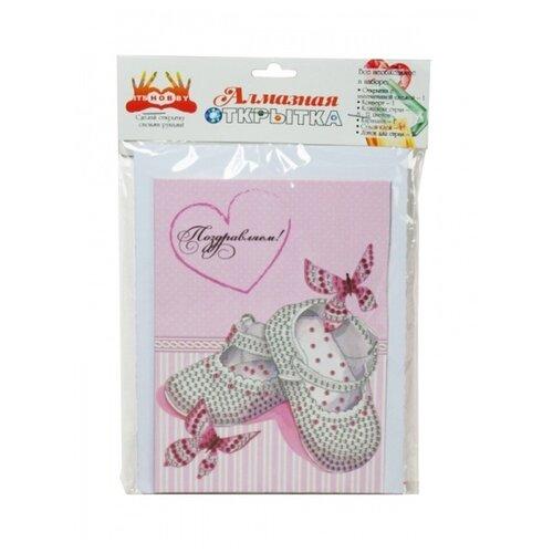 Itshobby Алмазная открытка Поздравляем с дочкой (AZ008)