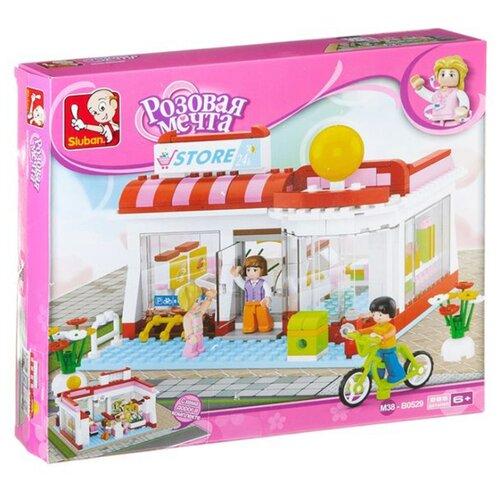 Купить Конструктор SLUBAN Розовая мечта M38-B0529 Супермаркет, Конструкторы
