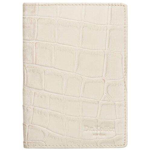 """Обложка для паспорта Dr.Koffer """"Крокодиловая кожа"""" X510130-203-76, белый"""