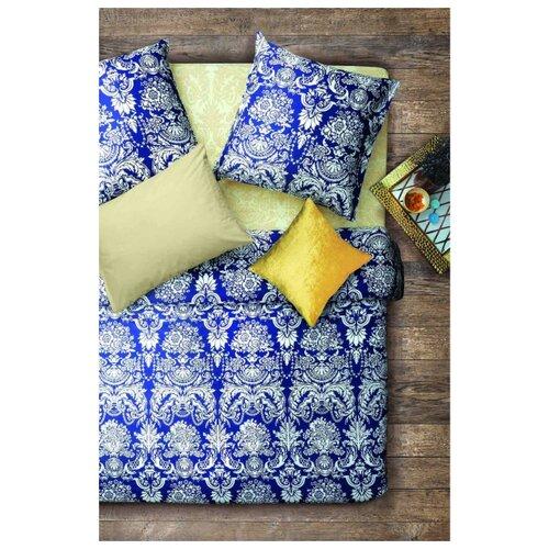 Постельное белье семейное Sova & Javoronok Византия, бязь, 50 х 70 см белый/синий постельное белье 1 5сп sova