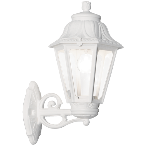 IDEAL LUX Уличный настенный светильник Anna AP1 Big bianco, E27, 60 Вт, цвет арматуры: белый, цвет плафона белый настенный светильник ideal lux flash ap1 bianco