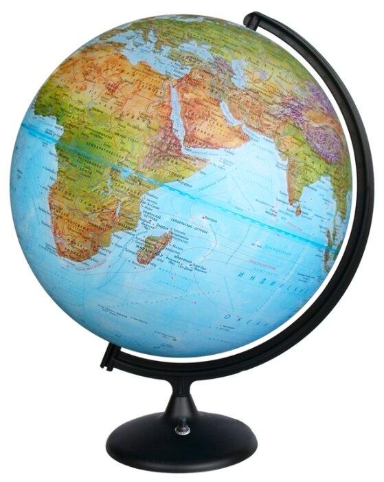 Глобус физико-политический Глобусный мир Двойная карта 420 мм (16032)