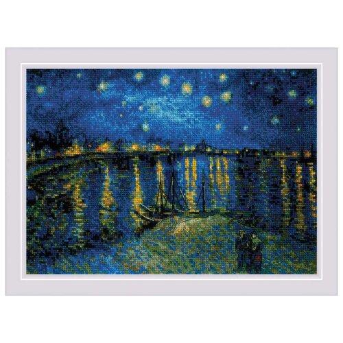 Купить 1884 Набор для вышивания Риолис ''Звездная ночь над Роной' по мотивам картины В. Ван Гога'38*26см, Наборы для вышивания
