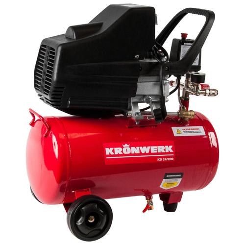 Фото - Компрессор масляный Kronwerk KD 24/200, 24 л, 1.5 кВт компрессор масляный fubag b5200b 200 ct4 200 л 3 квт