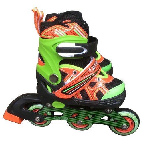 Раздвижные роликовые коньки ATEMI AJIS-19 р. 27 – 30 раздвижные роликовые коньки кеды для детей черные abec7 размер 27 30 ajis 1602 atemi
