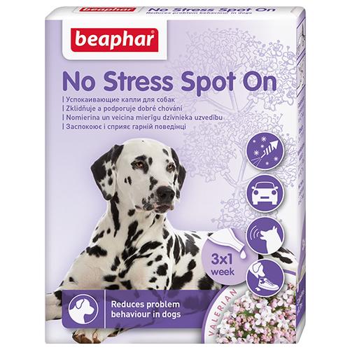 Капли Beaphar No Stress Spot On для собак, 0.7 мл х 3шт. в уп. капли relaxivet успокоительные spot on 0 5 мл х 4шт в уп