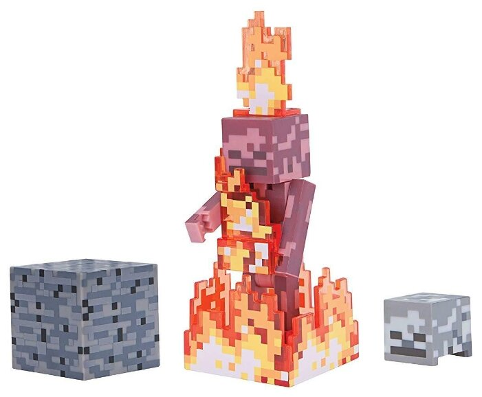 Фигурка Jazwares Minecraft Skeleton on Fire TM19974