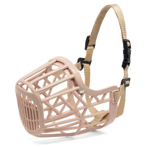 Намордник для собак Triol пластиковый с нейлоновым ремешком №5 бежевый