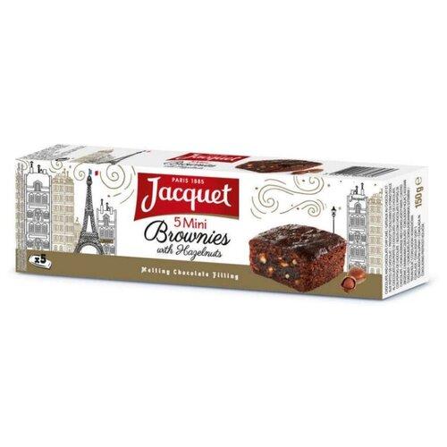 Пирожное Jacquet Brownie шоколадное с лесными орехами 30 г по цене 266