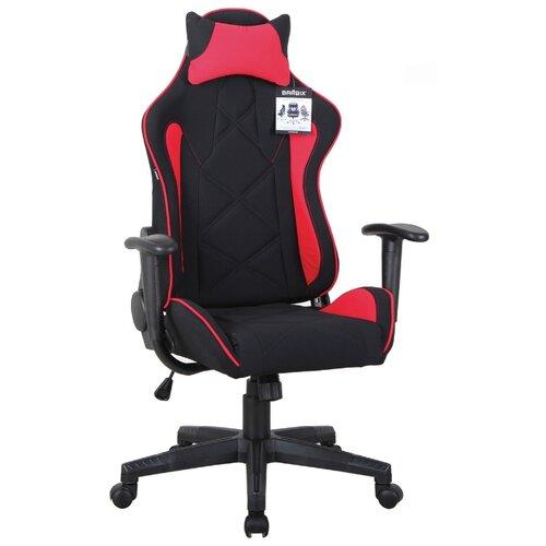 Компьютерное кресло Brabix GT Racer GM-101 игровое, обивка: текстиль, цвет: черный/красный компьютерное кресло brabix nitro gm 001 игровое обивка искусственная кожа цвет черный