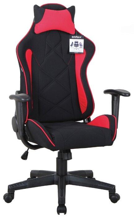 Компьютерное кресло Brabix GT Racer GM-101 игровое, обивка: текстиль, цвет: черный/красный - Характеристики - Яндекс.Маркет (бывший Беру)