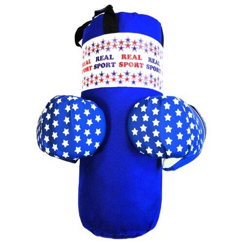 цена на Набор для бокса Realsport МИНИ синий