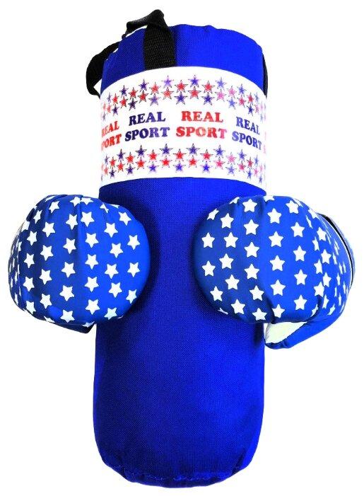 Набор для бокса Realsport МИНИ синий