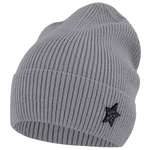 Шапка-бини Conceptline размер 54-56, серый шапка ignite цвет серый 018 hiphop stripe размер 54 56