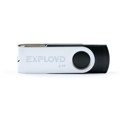 Флешка EXPLOYD 530 4 GB, black