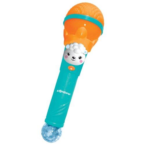 Купить Азбукварик микрофон Суперхит Добрые песенки оранжевый, Детские музыкальные инструменты