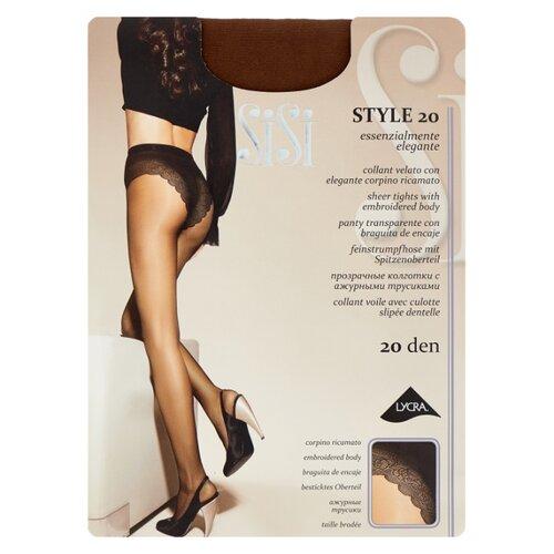 Колготки Sisi Style 20 den, размер 5-MAXI XL, naturelle (коричневый) колготки sisi miss 15 den размер 5 maxi xl naturelle коричневый