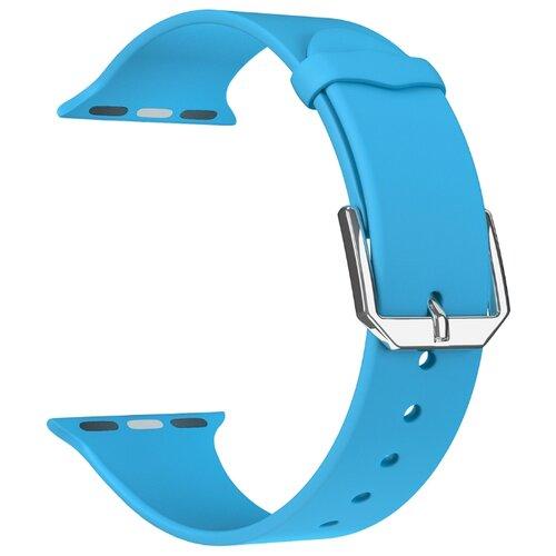 Фото - Lyambda Силиконовый ремешок Alcor для Apple Watch 38/40 mm blue lyambda силиконовый ремешок alcor для apple watch 42 44 mm green