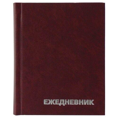 Купить Ежедневник OfficeSpace универсальный недатированный, бумвинил, А6, 160 листов, бордовый, Ежедневники, записные книжки