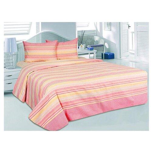 цена Постельное белье 2-спальное ТЕТ-А-ТЕТ Элени, сатин розовый онлайн в 2017 году