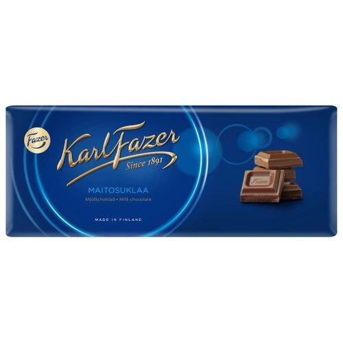 Шоколад Fazer молочный 30% какао, 200 г karl fazer молочный шоколад с крошкой соленой карамели 200 г