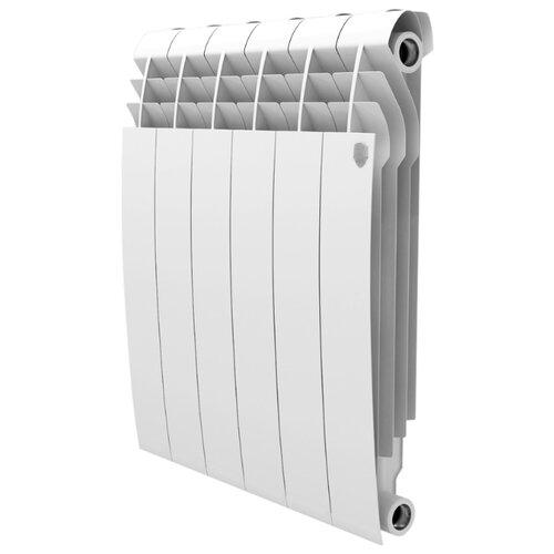 Радиатор секционный алюминий Royal Thermo Biliner Alum 500 x4 теплоотдача 456 Вт, подключение универсальное боковое Bianco Traffico биметаллический радиатор rifar рифар b 500 нп 10 сек лев кол во секций 10 мощность вт 2040 подключение левое