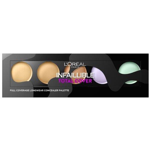 LOreal Paris Консилер Infaillible Total Cover, оттенок фиолетовый , желтый , бежевый , зеленыйКорректоры и консилеры<br>