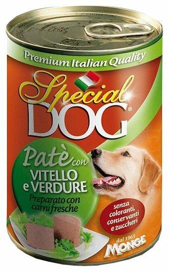 Корм для собак Special Dog Паштет Телятина с овощами (0.400 кг) 1 шт.