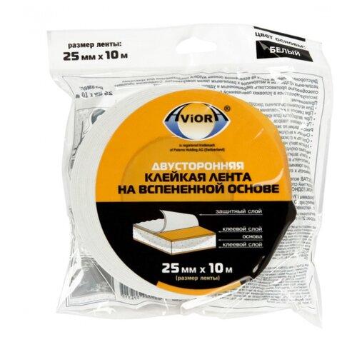 Клейкая лента монтажная Aviora 302-021, 25 мм x 10 м клейкая лента монтажная aviora 302 064 19 мм x 10 м