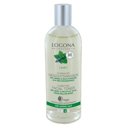 Logona Тонер для выравнивания кожи лица с био-мятой и салициловой кислотой из коры ивы, 125 мл шампунь с салициловой кислотой