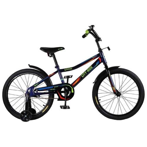 цена на Детский велосипед CITY-RIDE Spark 20 (CR-B2-0220) темно-синий (требует финальной сборки)