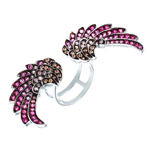 Фото - JV Серебряное кольцо с кубическим цирконием TPR15046E-KO-001-WG, размер 18 jv серебряное кольцо с кубическим цирконием dm0026r ko 001 wg размер 18