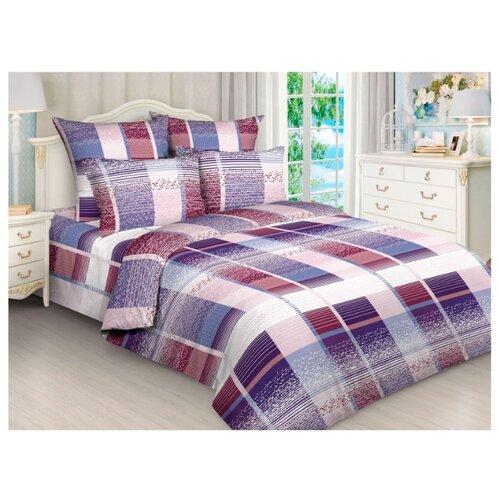 Постельное белье 2-спальное Toontex 4246 бязь синий / фиолетовыйКомплекты<br>